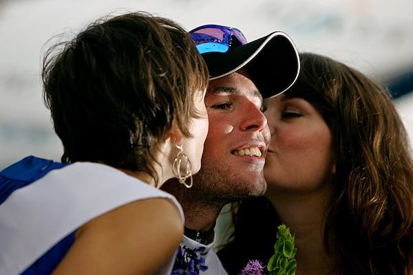 Mark Cavendish basks in the glow of leading the 2008 Tour of Missouri.