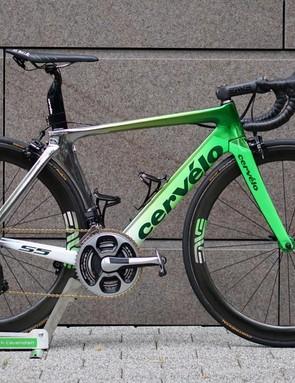 Mark Cavendish had a special paint job on his Cervélo S5 for the Tour de France