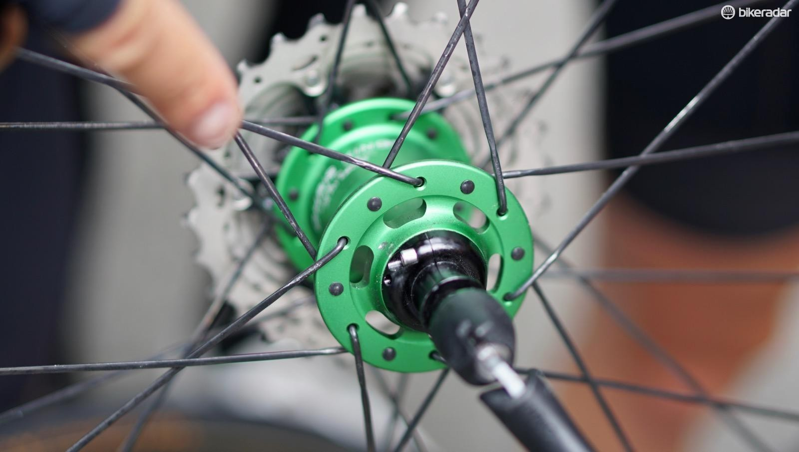 ENVE uses no-contact seals for its pro-race tune, which reduces friction but increases maintenance