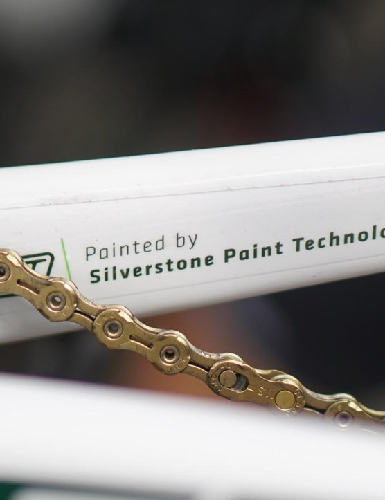 Silverstone claims the paint only adds 26g to the frame and fork. Typically, paint weighs well over 100g