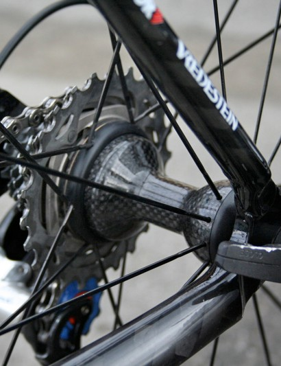 The Campagnolo Hyperon Ultra rear hub is
