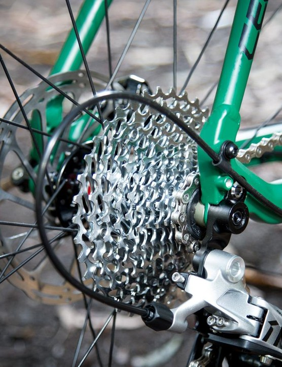 Despite only having one chainring at the front the 11-36T cassette provides for miles of range