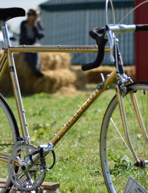 Yep, this Raleigh Centenary is gold plated. 200 were built in 1987 to celebrate 100 years of the British brand and this beauty has never been ridden...