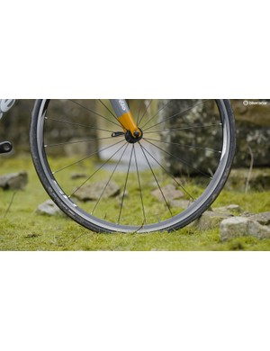 Shimano's RS010 wheels sustain speed well but are sluggish performers when you want to put the power down quickly
