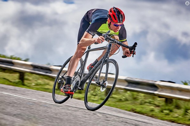 The brakes offer total control over your downward velocity and the tyres just grip and grip