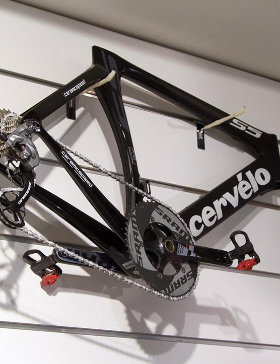 Cervélo S5 frameset, featuring SRAM Red and Ceramic Speed components