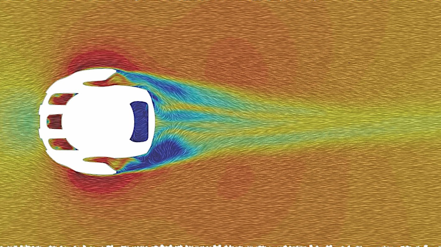 A CFD rendering shows airflow neatly tapering behind the Ventral