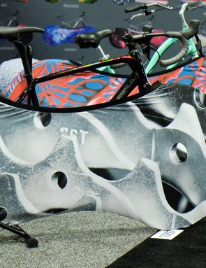 The ultimate chainring guard! The Velosock is designed to cover the drivetrain and tires for indoor storage