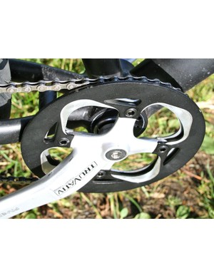 We'd have preferred a Shimano-compatible crankset over the Truvativ, due to availability of spares
