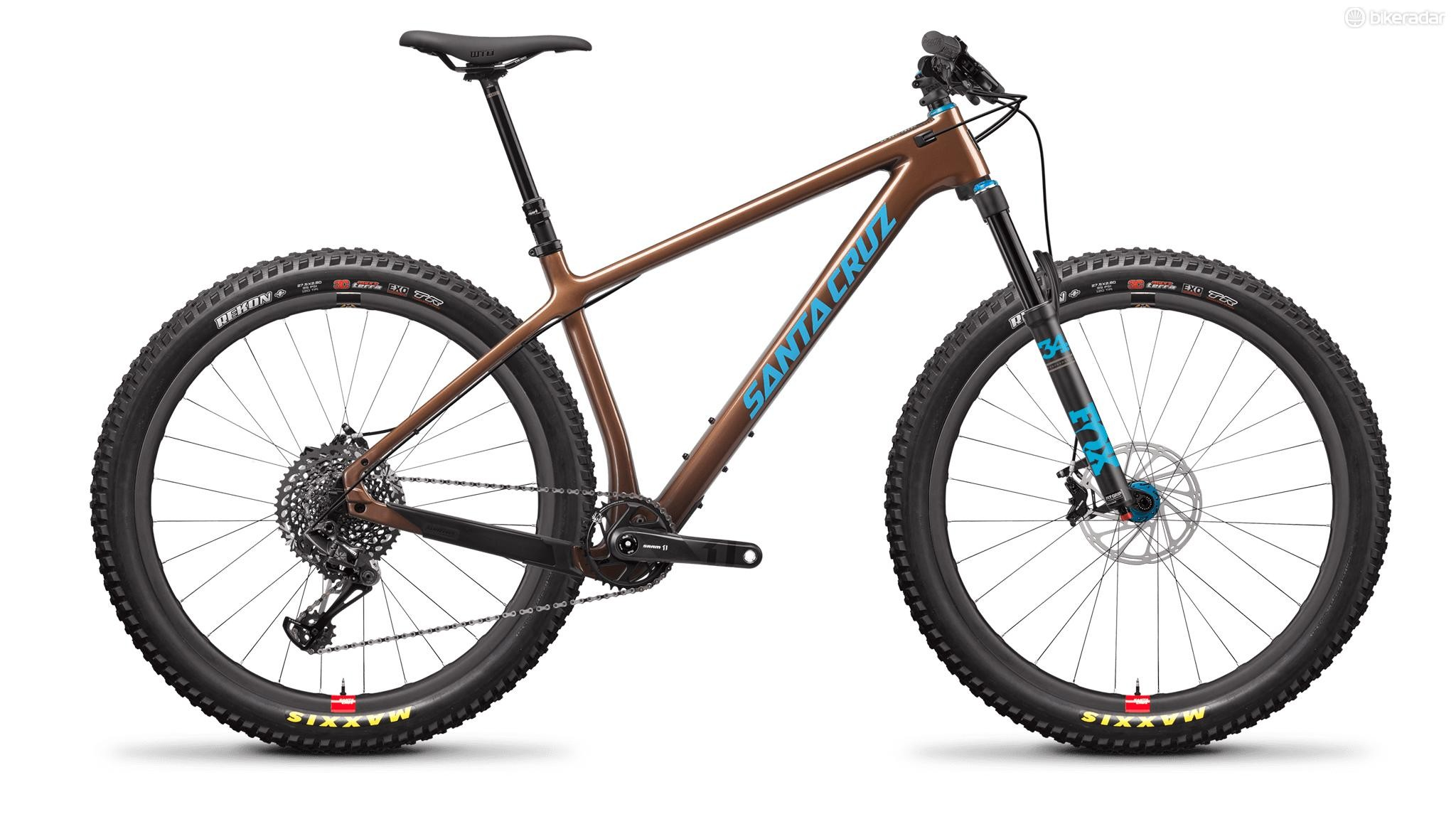 The top of the range bike comes with Santa Cruz's Reserve Wheels
