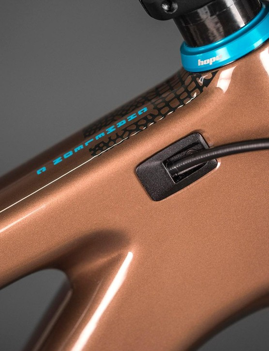 Internal cable routing is sleek