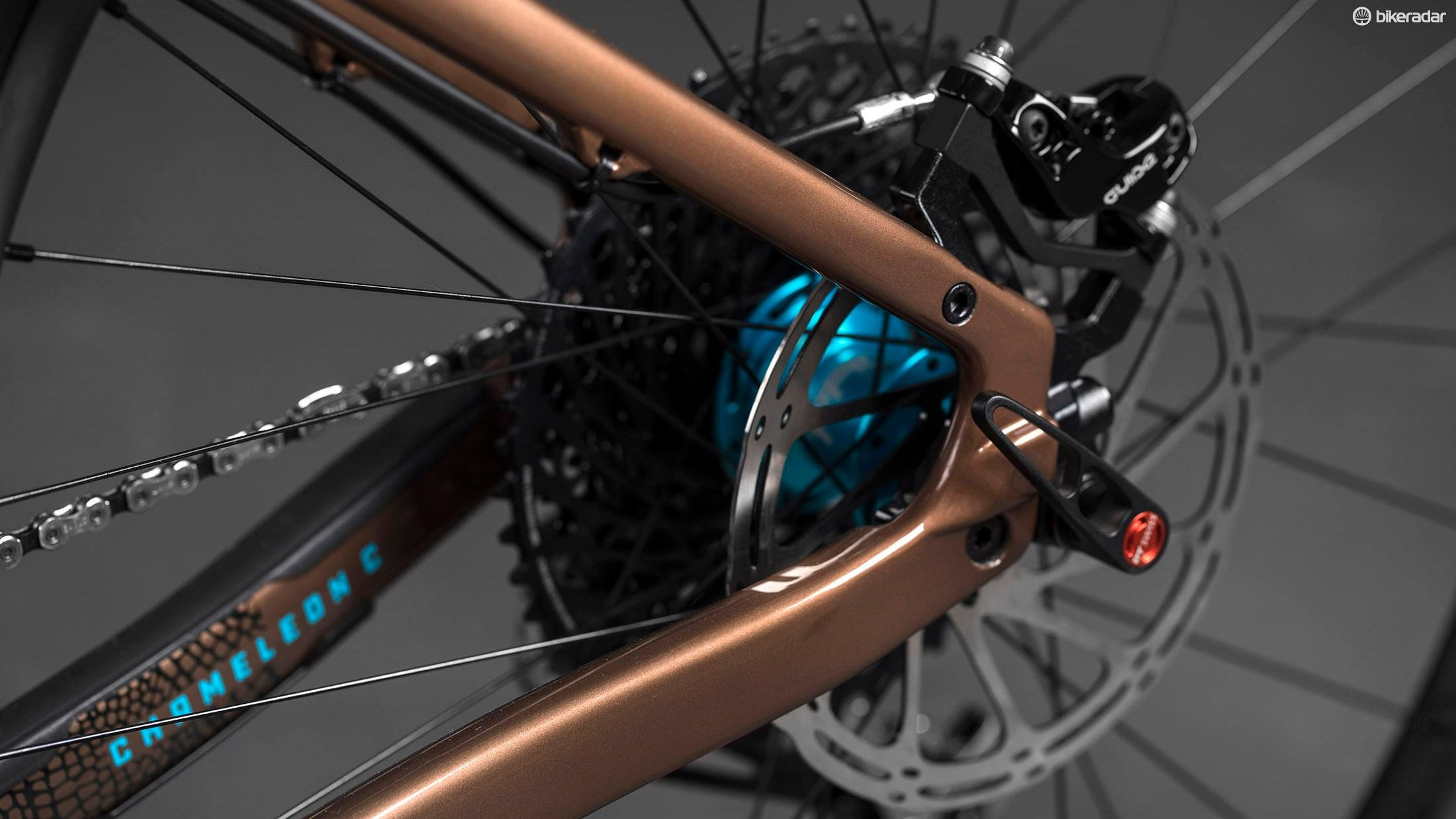 The dropouts can be changed for either singlespeed or geared setups