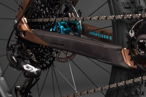 The integrated chainstay protector looks tidy