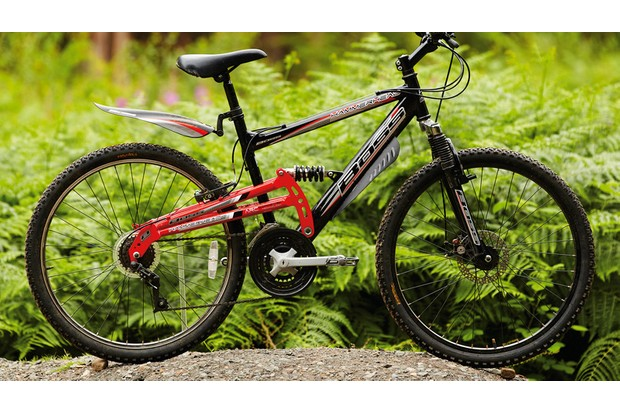 Cheap full-suspension bikes, such as this one, should be avoided at all costs