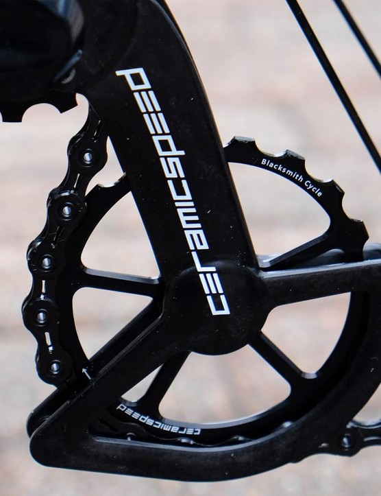 No detail was overlooked, including this personalized Ceramic Speed pulley