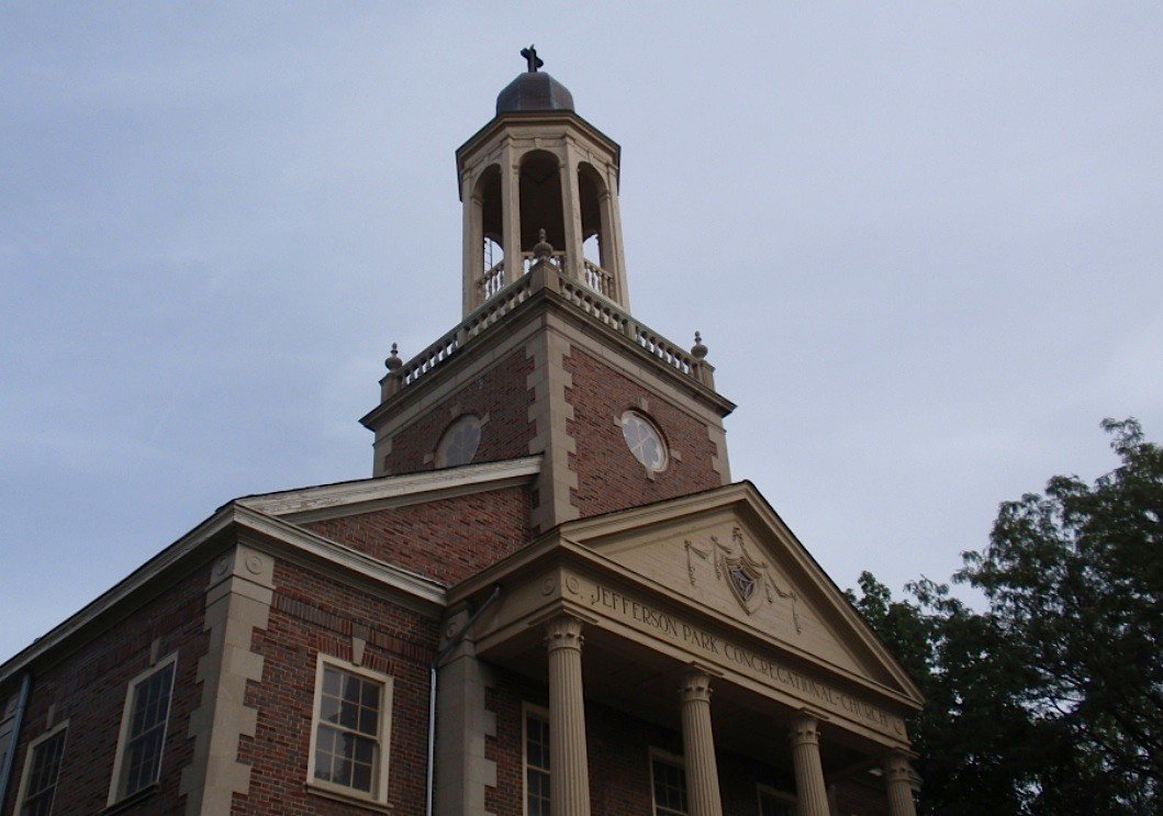 Pre-war architecture like this Chicago church can be seen on the final Bike Tour October 26.
