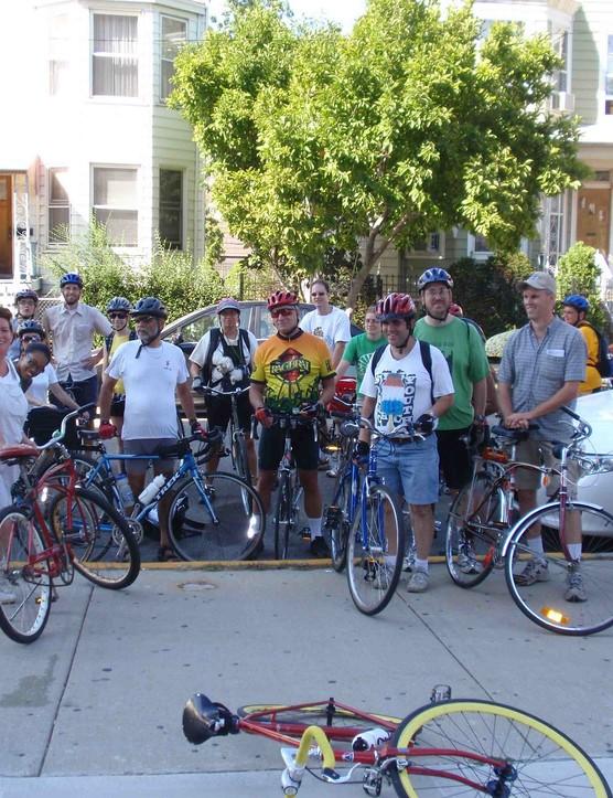 A recent Chicago Neighborhood Bike tour group photo.