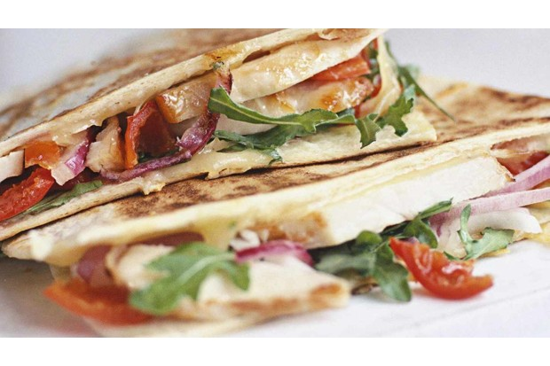 Cheesy quesadillas will provide you with plenty of energy
