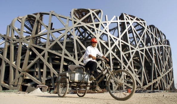 The `Bird's Nest' in Beijing, getting ready for August `08.