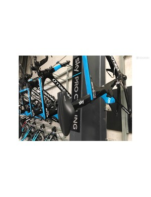 One of Chris Froome's Bolide time trial frames