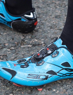 Chris Froome's new Sidi are certainly striking