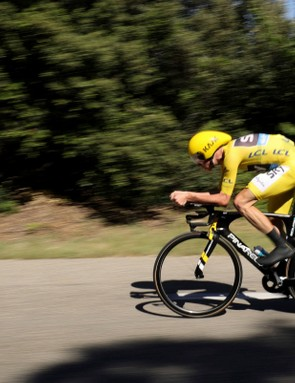 Chris Froome time-trialling his way to winning stage 13 of the 2016 Tour de France