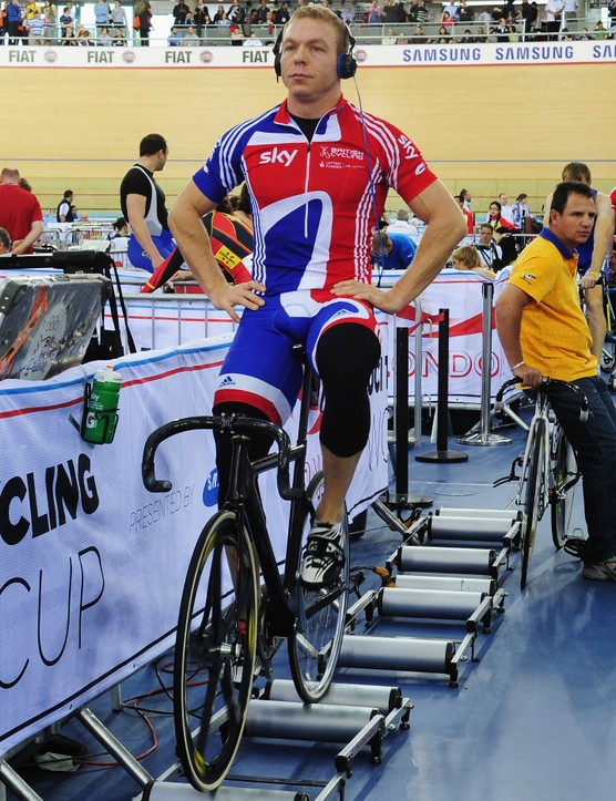 Chris Hoy knows how to ride the rollers
