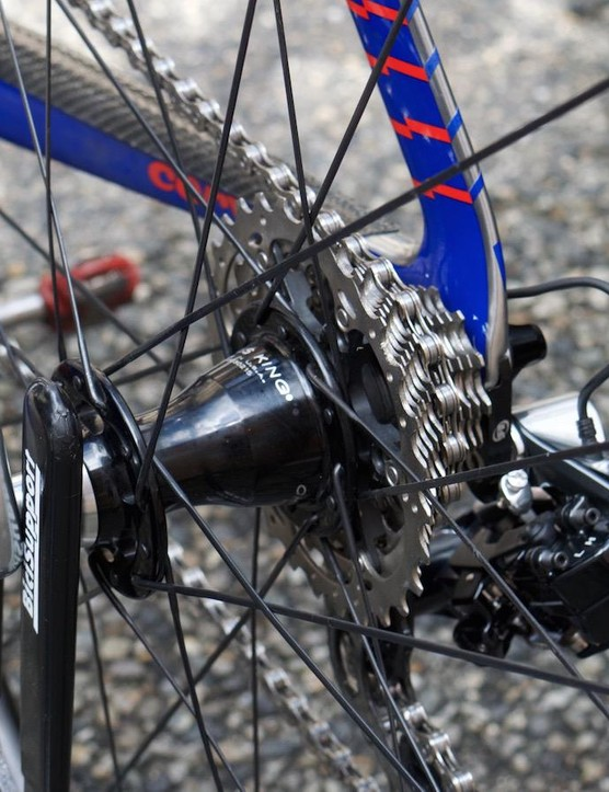 Some Team Dimension Data riders opted for Chris King hubs