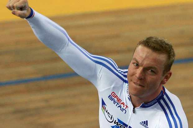 Chris Hoy at the world track championships in Spain earlier this year