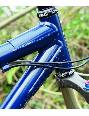The frame is built for burly riders who like to hammer the trails