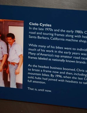 Betcha didn't know Chris King made frames back in the day!