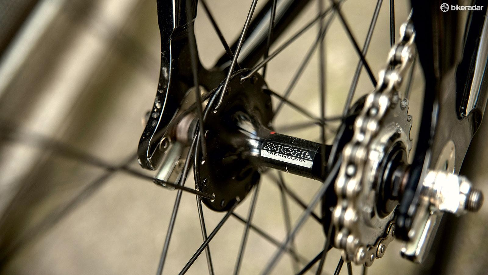 The Miche Xpress wheelset feels surprising stiff and strong