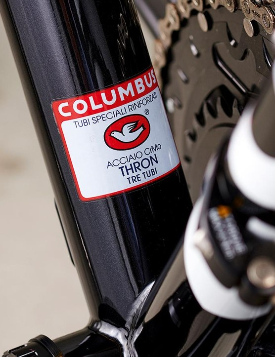 Columbus Thron steel tubing makes for a stiff frame