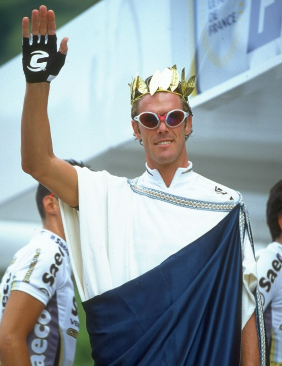 Toga! Toga! Mario Cipollini always knew how to dress for the occasion.