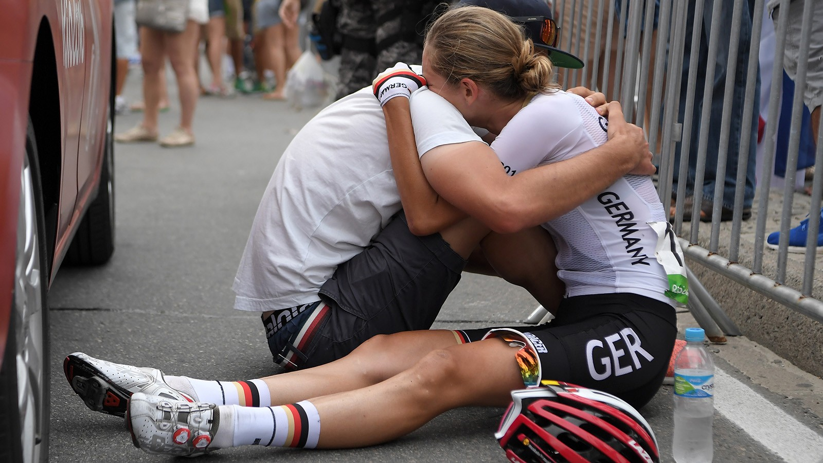 Claudia Lichtenberg after finishing the Women's Road Race at the Rio 2016 Olympic Games