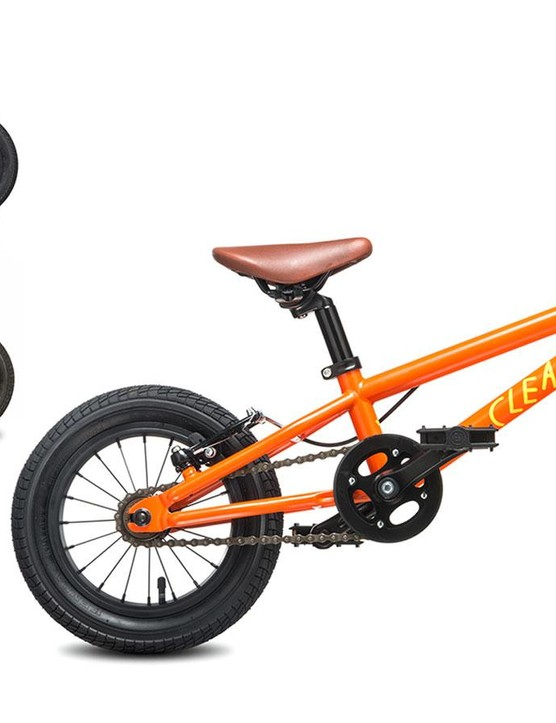 The Gecko is built for tiniest of bikers and rolls on 12in wheels. Two models are available, one with a coaster brake plus hand brakes, the other with a freewheel and hand brakes