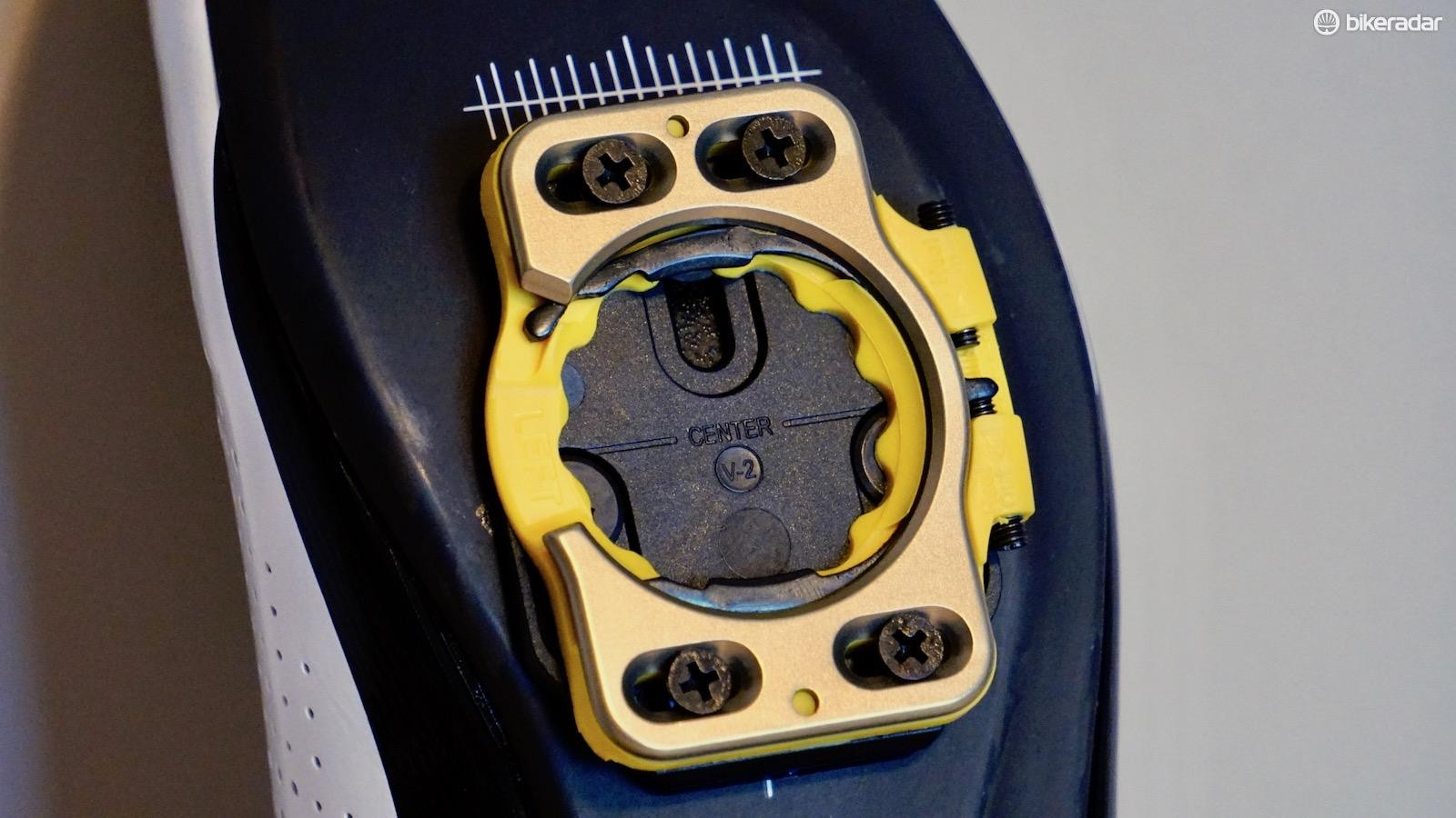 Every cleat has a line denoting the midpoint — this is a reference for setting up in relation to the MPJ of your choice