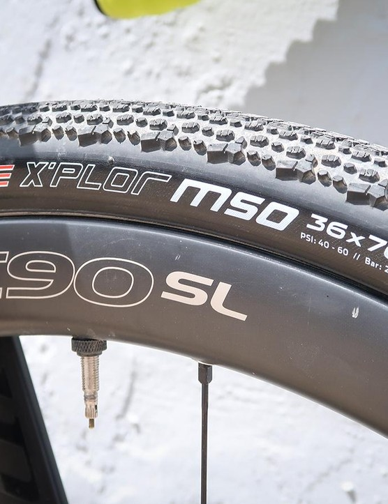 The Clement MSO X'PLOR in 36 and 40mm versions is a popular tire choice
