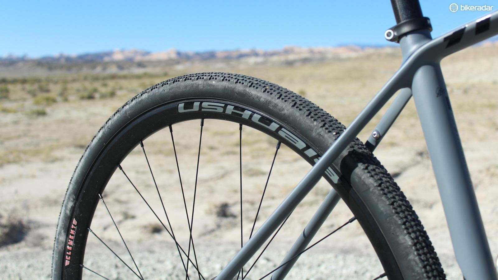 The Ushuaia is 23mm wide internally, which allows for a good profile on tires like this 36mm X'Plor MSO
