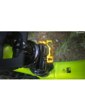 The C-Quent uses Cane Creek's Climb Switch, which increases low-speed rebound and compression damping to improve uphill performance