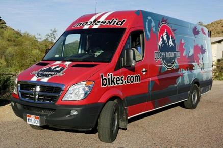 The Rocky Mountain Demo vehicle.