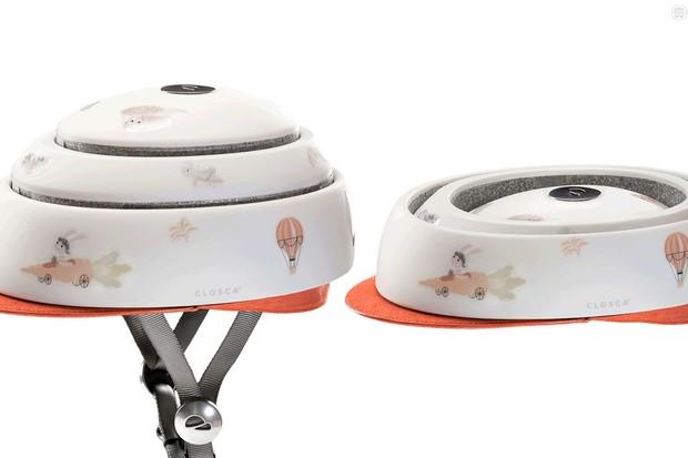 Closca's new children's helmet packs down small