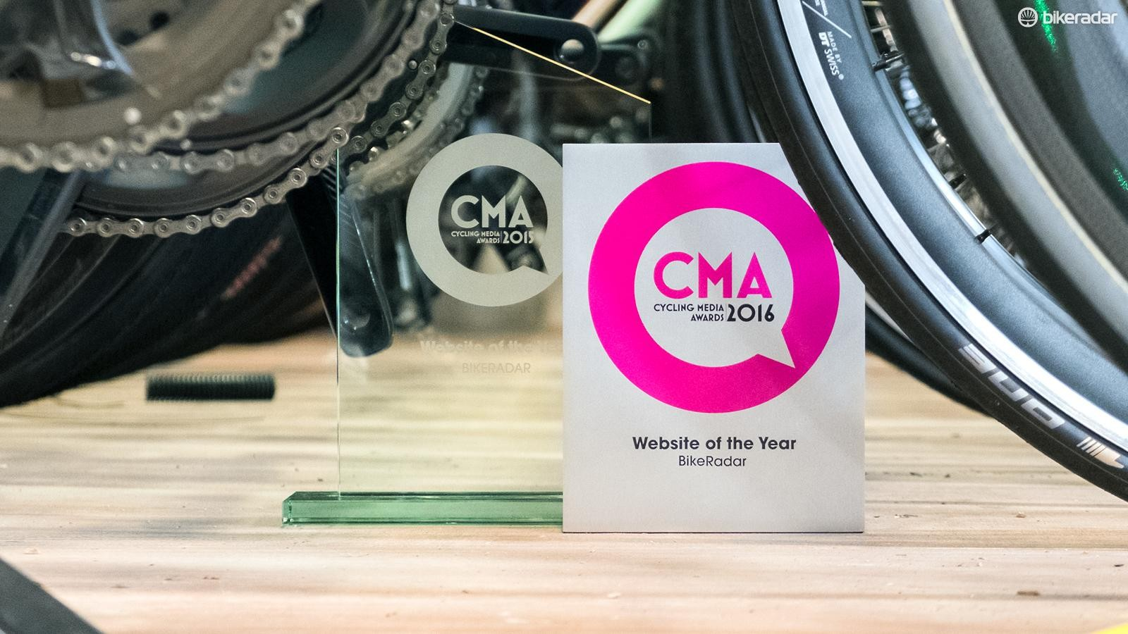 We've picked up a second CMA trophy for our collection