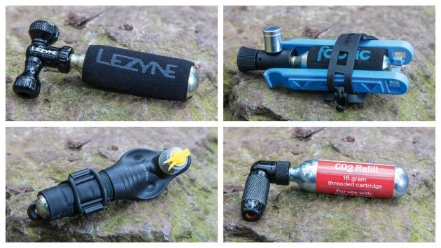 Some riders prefer to use CO2 canisters over pumps