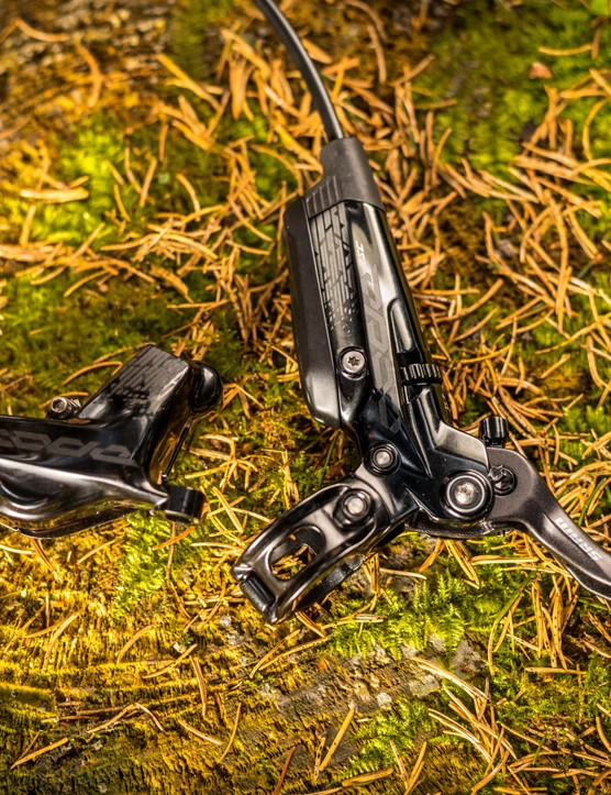 The new SRAM Code RSC brake borrows a lot of technology from the less powerful Guide brakes and is designed for downhill or e-MTB use