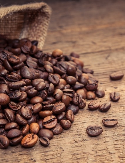 Coffee beans vary in acidity levels
