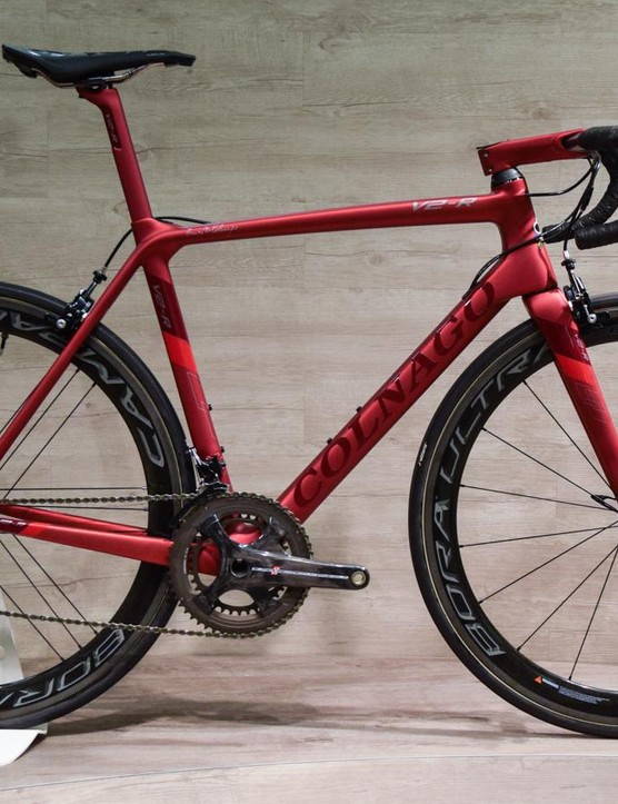 The Colnago V2-R is light and beautiful