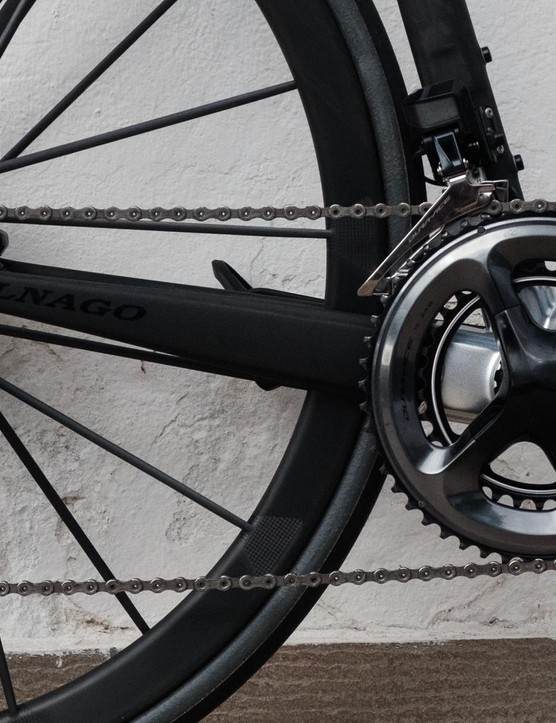 Yes, this bike is built with Dura-Ace