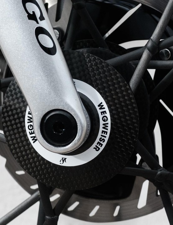 The bike uses 12mm through axles at both ends