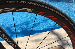 Vittoria Rubino Pro Speed 23mm are the tyre of choice here for the Mallorcan roads